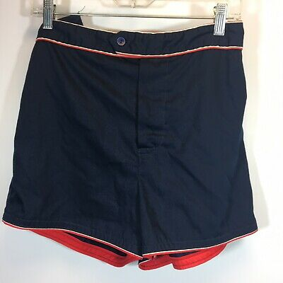 Swim Trunks Vintage Sears Kings Road Small Very Short Blue 30 waist
