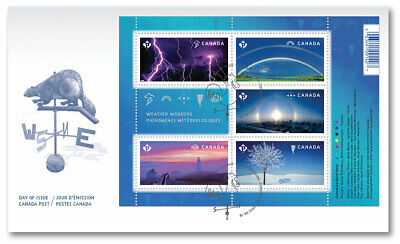 2015 -FDC - Canada - Weather Wonders: Souvenir Sheet Official First Day  ( New )
