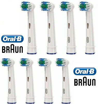 8 x Braun Oral-B Precision Clean Electric Toothbrush Replacement Heads