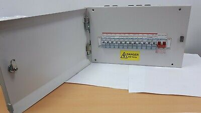 HAGER METAL MCB Consumer Unit 12-WAY 100Amp MAIN & Breakers Single Phase