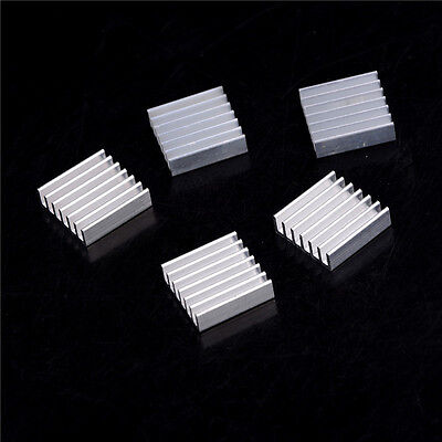 5pcs Aluminum Heat Sink for LED Power Memory Chip 20*20*6mm  High QualityIHS