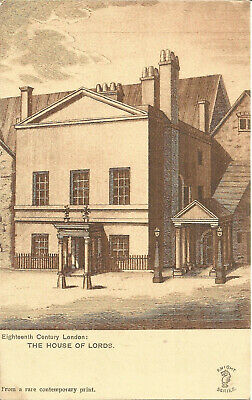 Vintage Postcard 18th Century London, House Of Lords, From A Rare Print P494