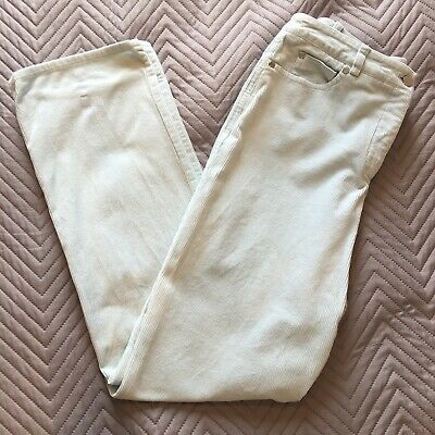 Ladies Jaeger Trousers / Jeans Size 12 Corduroy Light Pale Blue Duck Egg Shell