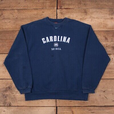 MENS VINTAGE NIKE Team Navy Blue Tar Heels Sweatshirt Jumper