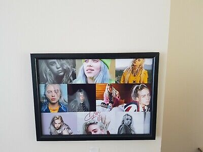 Billie Eilish A4 260gsm Framed Collage  Poster Print