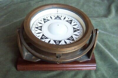 DIRIGO Ship's compass-15 pounds-vintage-old brass and copper-Eugene M. sherman