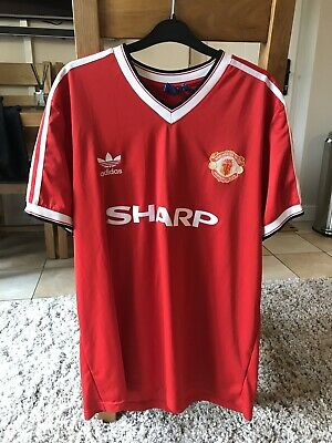 on sale f3c95 d83f2 MANCHESTER UNITED FOOTBALL Shirt Adults XL Nike Home Kit original vintage