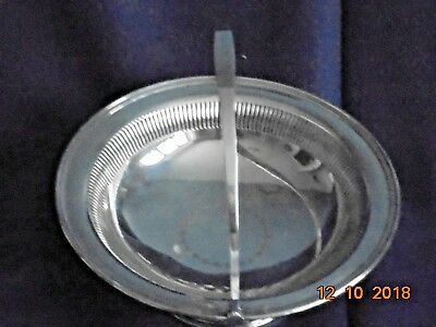 MAPPIN and WEBB Silver Plate Fruit/Serving Bowl with Handle (F--W20580) Dia 9""