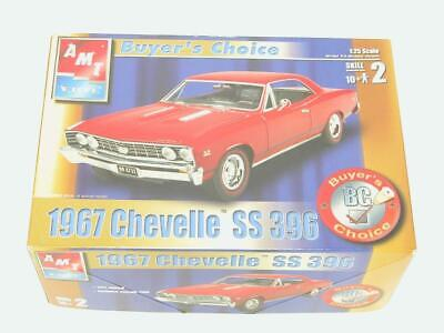 1/25 AMT ERTL 1967 67 Chevy Chevelle SS 396 Muscle Car Plastic Scale Model Kit