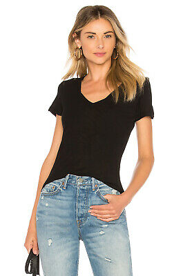 46997dabe24da1 Standard by James Perse $95 Women's Black Deep V-Neck Tee Top Size ...