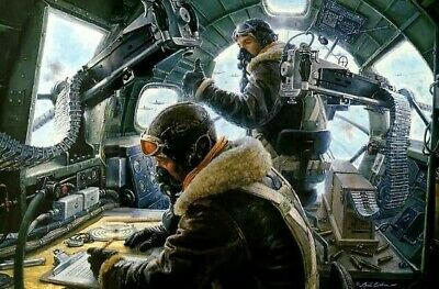 B17 Crew Color Print WW2 WWII Other sizes