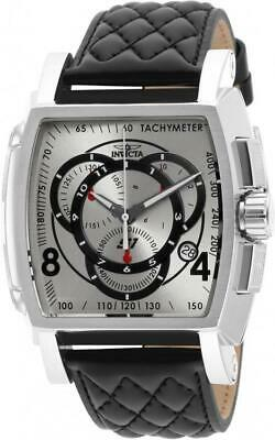 Invicta S1 Rally 15789 Men's Black/Silver-Tone Genuine Leather Chronograph Watch