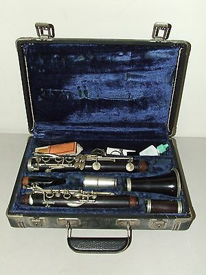 Antique A. Fontaine French Rosewood Wooden Clarinet with Hard Case