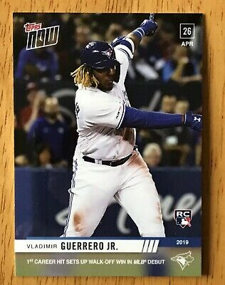Vladimir Guerrero Jr. Blue Jays 2019 Topps Now #137 MLB Debut Rookie Card RC