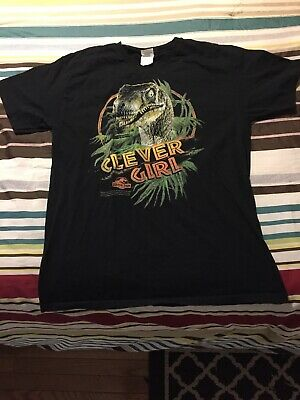 d4e3b0795 Jurassic Park Movie Clever Girl! Licensed Adult T Shirt Medium Size