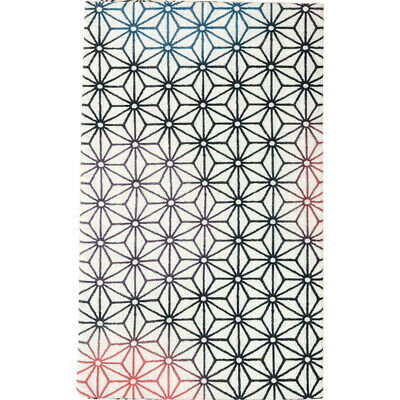 HAMAMONYO Tenugui  'Geometric Hemp-Leaf Pattern' (Japanese Cotton Hand Towel)