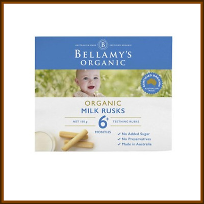 Bellamy's Organic Milk Rusks 100g Suitable for 6 Months +