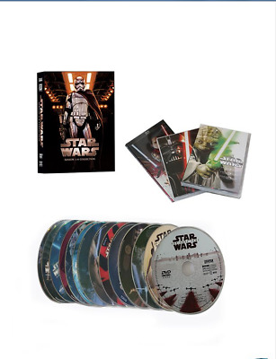 Star Wars: The Complete Saga (Episode 1-8 14-Disc DVD) Box Set New Sealed USA