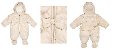 KANZ Baby -Girls Newborn Snowsuit Fleece Lined with Hood  9 Month/74 cm