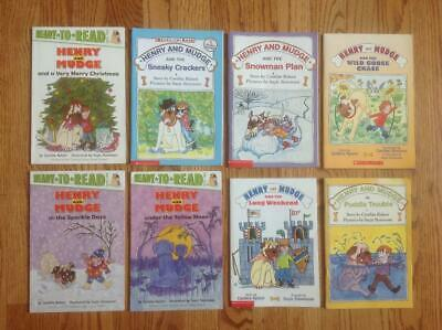 Lot of 8 HENRY AND MUDGE Readers Books by Cynthia Rylant GREAT TITLES Nice!