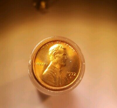 1972 D LINCOLN Memorial CENT ROLL Choice BU UNCIRCULATED 50 Coins Nice