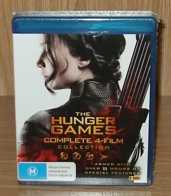 The Hunger Games Complete 4-Film Collection Blu-ray 8-Disc Box Set New & Sealed