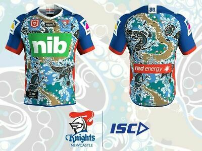 Newcastle Knights NRL 2019 ISC NRL Indigenous Jersey Adults Sizes S-3XL!