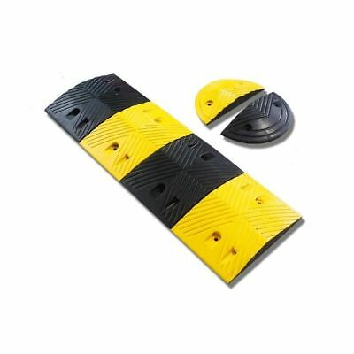 Speed Hump/ Speed Bump with Rounded Ends- 60 Ton Capacity Rubber Modular Design