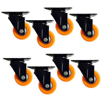 8x 2 inch Casters Trolley Wheels 50mm 50kg Load Furniture Caster Wheels Swivel