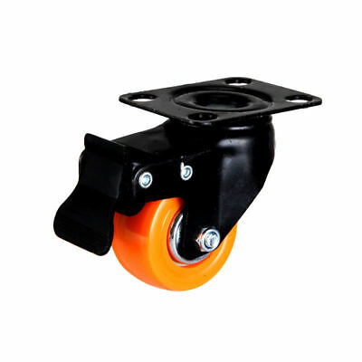 "8x Caster Wheels- 4w Brakes, 400KG Load, 2"", Swivel, Polyurethane, Trolley Wheel"