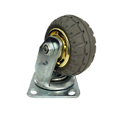 Super Heavy Duty Caster Wheel - 100mm/ 4in, 200kg Load Capacity, Rubber Wheel