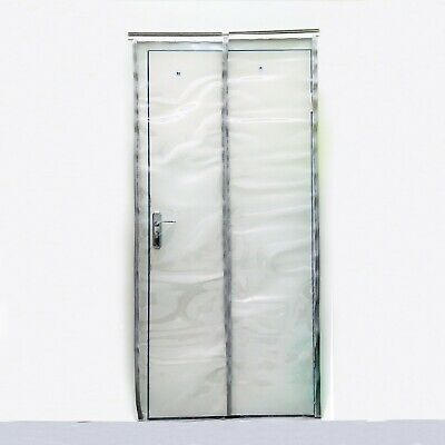 PVC Strip Curtain 1000x2100mm Plastic Door Curtains - 500 x 2mm Clear Strips