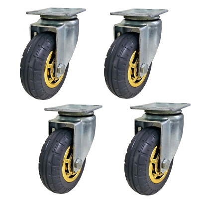 "4 x Swivel Caster Wheels- 5""/125mm, Heavy Duty, 500KG Load Capacity"