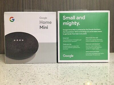 2 Pieces! Brand New Sealed In Box! Google-Home Mini Smart Speaker - Charcoal !