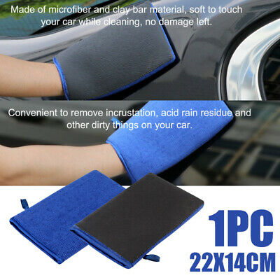 Premium Car Clay Mitt Glove for Detailing Polish Clay Bar Reusable Blue 5.5*8.7""