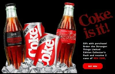 New Stranger Things Coke Coca Cola 1985 Limited Edition Collectors Pack