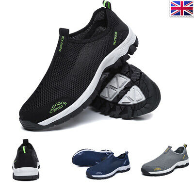 Mens Trainers Slip On Aqua Shoes Mesh Beach Hiking On Surfing Wetsuit Water Shoe