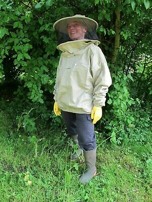 PREMIUM QUALITY Beekeeping Round Hat Jacket - Olive. All Sizes. Protective Wear