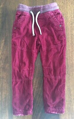 NEXT Boys Burgundy Maroon Jeans Trousers Cords 24-36 Months 2-3 Years