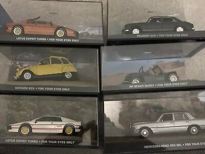 6 X James Bond 007 For Your Eyes Only Cars Lotus Roger Moore Eaglemoss Fabri New