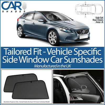 Volvo V40 5 Door 2012> Car Shades Uk Tailored Uv Side Window Sun Blinds