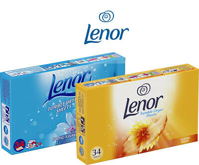 Lenor Tumble Dryer Sheets 34 Sheets- Keeps Your Clothes Fresh