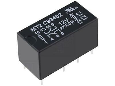 signal DPDT Ucoil12VDC max250VAC 2A 5-1462000-1 C93424 Relay electromagnetic