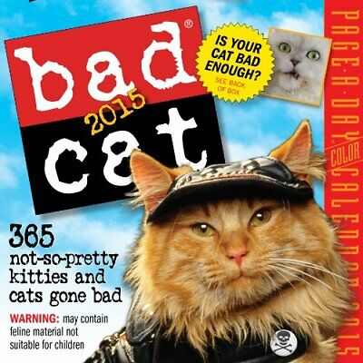 Bad Cat 2015 Page-A-Day Calendar, Workman, Used; Good Book
