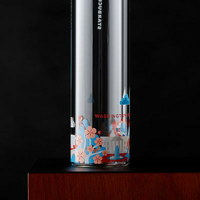 cb58aa7c9f Starbucks Glass Water Bottle You Are Here Washington DC Monument Cherry  Blossom