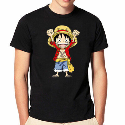 c5f324f8 Lover T-shirt Anime One Piece Luffy TShirt Short Sleeve Tee Shirts Cosplay  S-