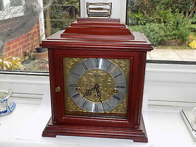 Franz Hermle 8 Day Mechanical Wind Westminster Chime Bracket Mantle Clock Gwo