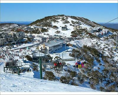 """19012050 10""""x8"""" (25x20cm) Print The village of Mount Hotham in wi..."""