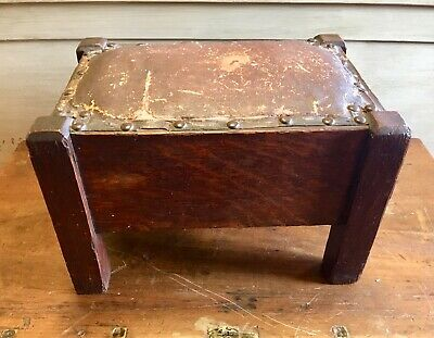 Stickley Era Arts & Crafts Foot Stool Vintage Craftsman Mission Oak