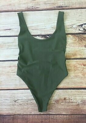 ba2d6f3864 NEW AERIE WOMENS One Piece Cross Front Swimsuit Size Large Turquoise ...